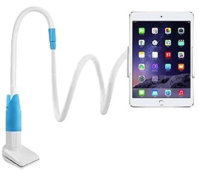 寝ながら スマホ タブレット スマホ 用 フレキシブル アーム スタンド アンドロイド iPad air mini iPhone(ブルー)