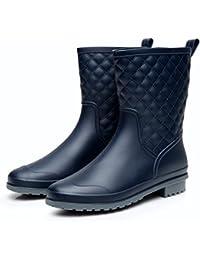 [Smiry] レインシューズ レディース レインブーツ ショートブーツ ヒール 長靴 おしゃれ 防水 雨靴 梅雨対策 歩きやすい 4色(22.5cm~25.5cm)