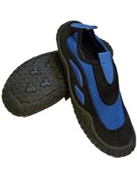 Sand N Sunメンズブルー&ブラックAquaソックスビーチ&水靴