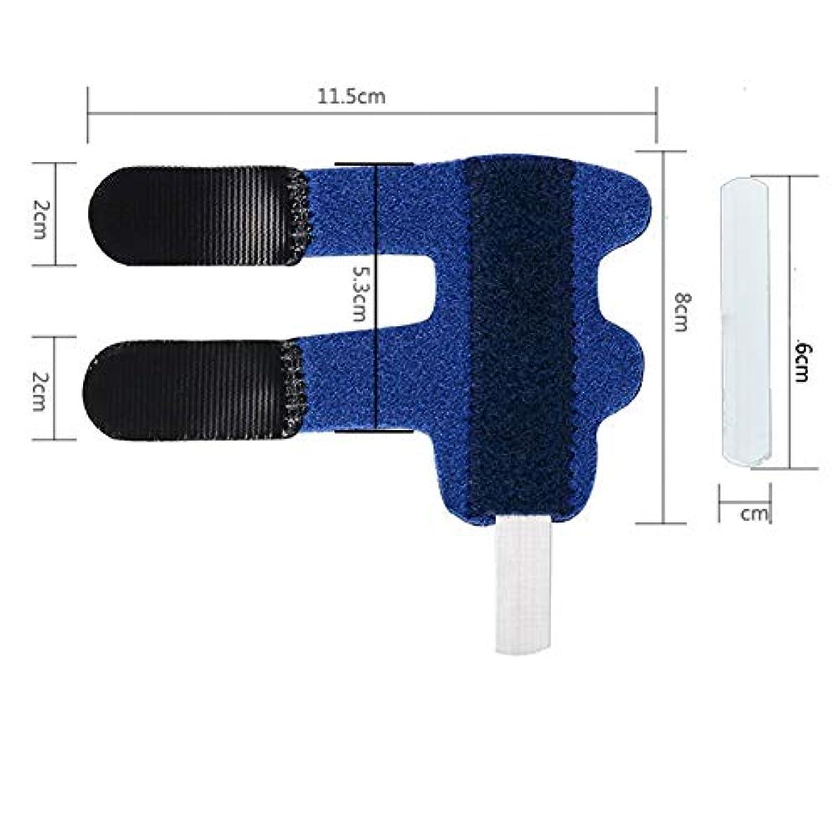 一晩建設有効化ばね指スプリント、指の剛性、変形性関節症、捻挫ナックルズの痛みを軽減するための拡張矯正関節炎マレット指ナックルブレースのための調節可能なアルミニウム支持体,ブルー