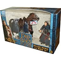 ToyBiz Year 2003 The Lord of the Rings (ロードオブザリング) Movie Series The Return of the King Deluxe Horse and Rider Set - Aragorn with Sword-Slashing Action and Brego with Galloping Action(並行輸入)