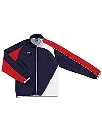 ミズノ トレーニングクロスシャツ N2JC501086 ネイビー×レッド