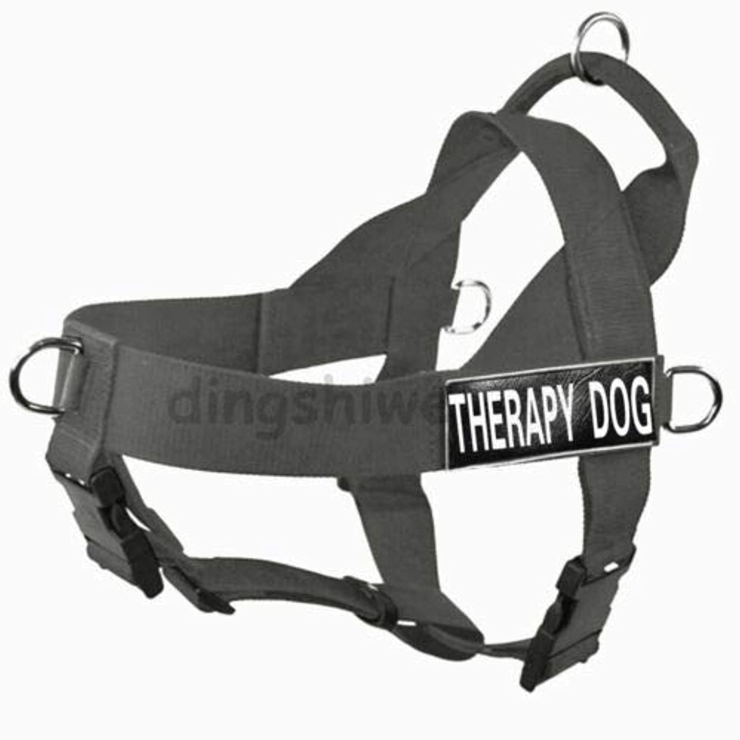 本会議クロスハブFidgetGear SERVICE DOG VEST/HARNESS Nylon With Removable label Patches for Large Dogs Grey S fit girth 24