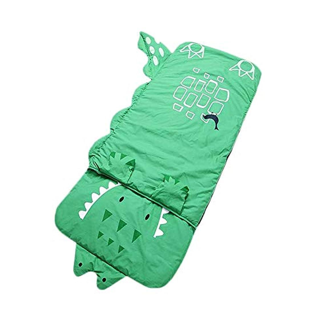 小間アイザックヒューズRaiFu 寝袋 子供 暖かい 厚 漫画 クロコダイルデザインの寝袋