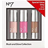 No7の赤面とグローコレクション (No7) (x2) - No7 Blush and Glow Collection (Pack of 2) [並行輸入品]