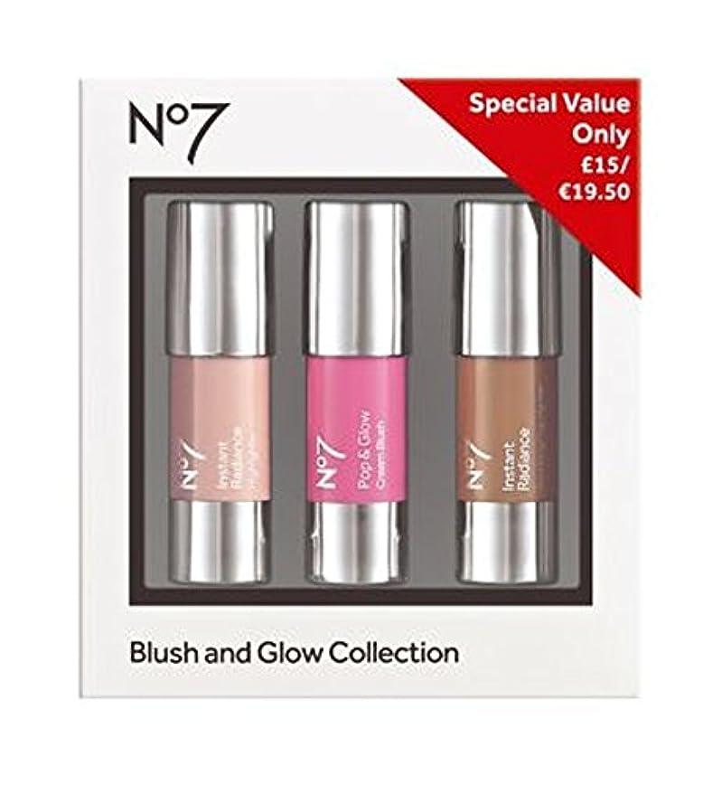 トラフ外出はずNo7の赤面とグローコレクション (No7) (x2) - No7 Blush and Glow Collection (Pack of 2) [並行輸入品]