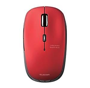 エレコム ワイヤレスマウス 2.4GHz BlueLED 5ボタン 戻る・進むボタン 【ファイナルファンタジーXIV: 新生エオルゼア推奨】 レッド M-BL21DBRD