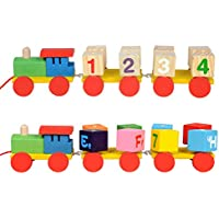 RONSHIN早期教育玩具ギフト子供ビルディングブロック玩具回転トレーラーTrainデザイン