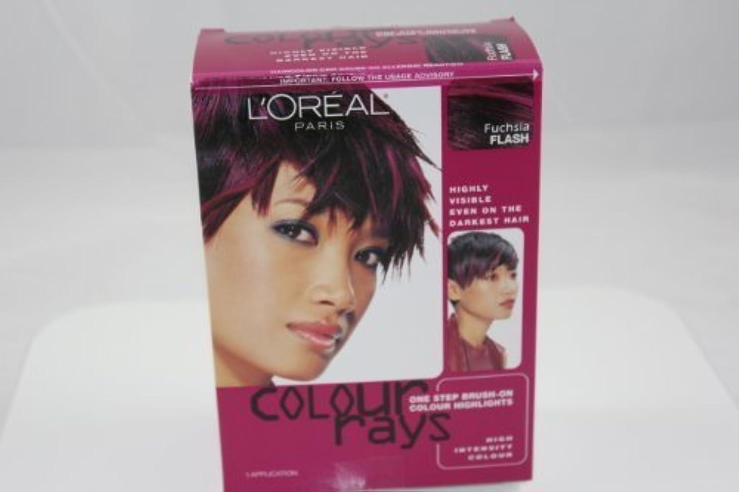 静かにその結果持ってるL'Oreal Paris Colour Rays Hair Color, Fuschia Flash by L'Oreal Paris Hair Color [並行輸入品]