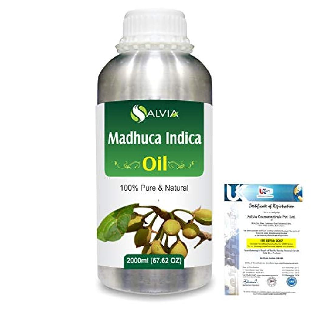 決定的壊す行方不明Madhuca Indica (Mahua) 100% Natural Pure Essential Oil 2000ml/67 fl.oz.