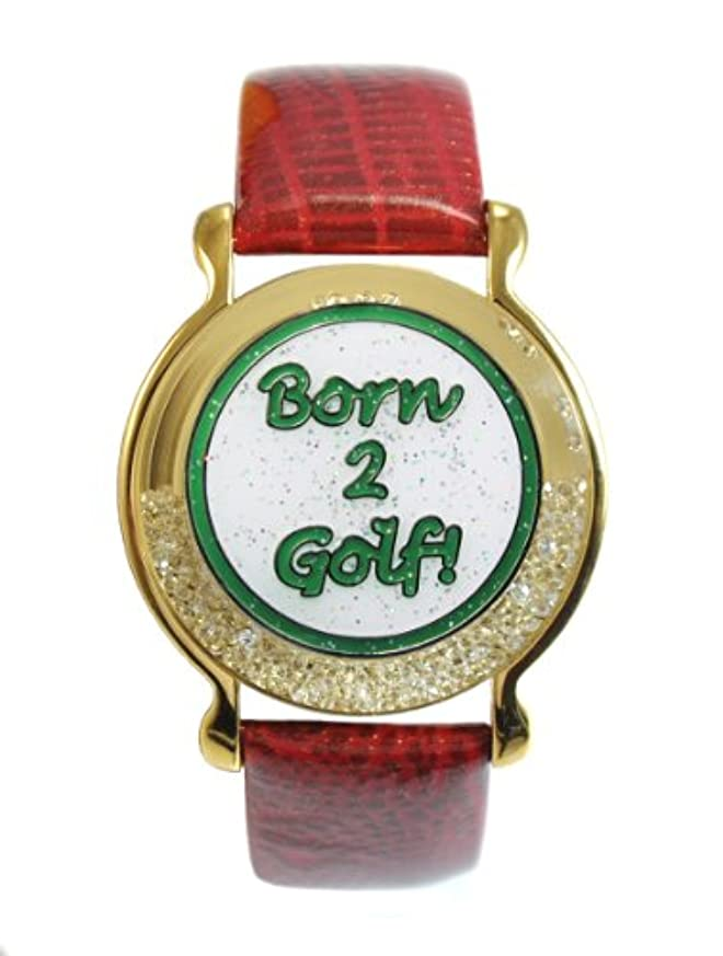 影響ノーブル委員会赤革ブレスレット生まれのゴルフ2グリーン磁気ボールマーカー