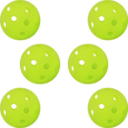 (ジーピー) GP (ジーピー) 野球 バッティング トレーニング ボール 穴あき PE素材 蛍光緑 72mm 6個入り 34139