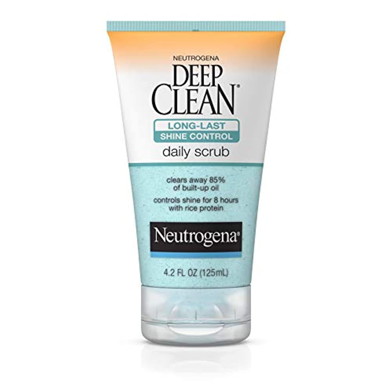 代替案衣服放射するNeutrogena Deep Clean Shine Control Daily Scrub 124 ml (並行輸入品)