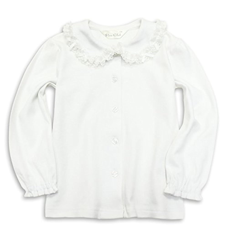 ASHBERRY (アッシュベリー) ニットブラウス(白ブラウス)長袖[リボン]綿100%/フォーマル/女の子/