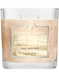 (Cozy Cashmere) - Colonial Candle 90ml Scented Oval Jar Candle, Cosy Cashmere