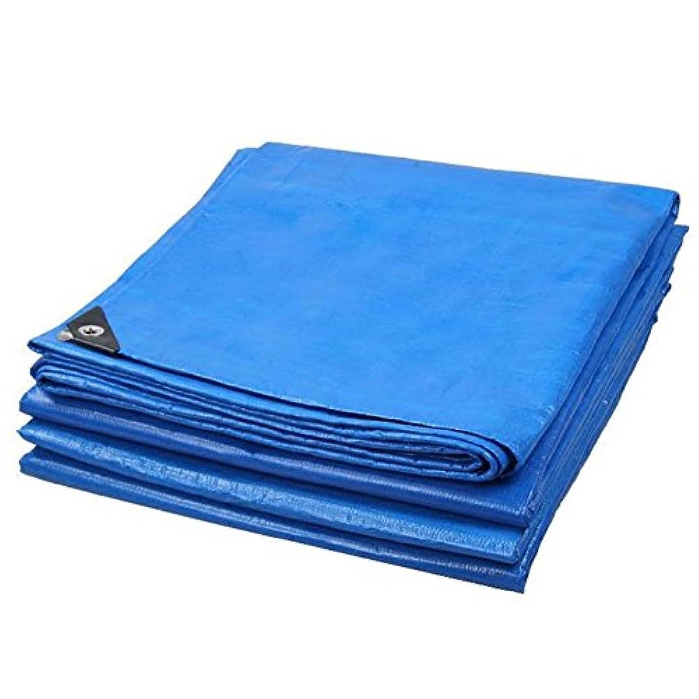 グリット手首エンドウ19-yiruculture 屋外のテントの防水シート、厚い耐雨性の日焼け止めの防水シートの三輪車のトラックの日除けのテントの布の折り畳み式の酸化防止 (Color : Blue+Orange, サイズ : 3x4M)