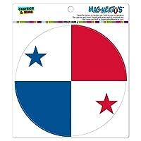 パナマ国立国旗 - サークル MAG-格好いい'S(TM)カー/冷蔵庫マグネット