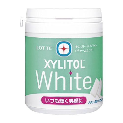 ロッテ キシリトール ホワイト チャームミント ファミリーボトル 143g