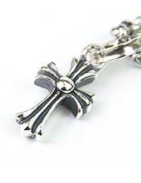 MARIA クロスペンダント メンズ 十字架 ネックレス シルバー アクセサリー トップ ベビーファットチャーム チェーン45cm付き
