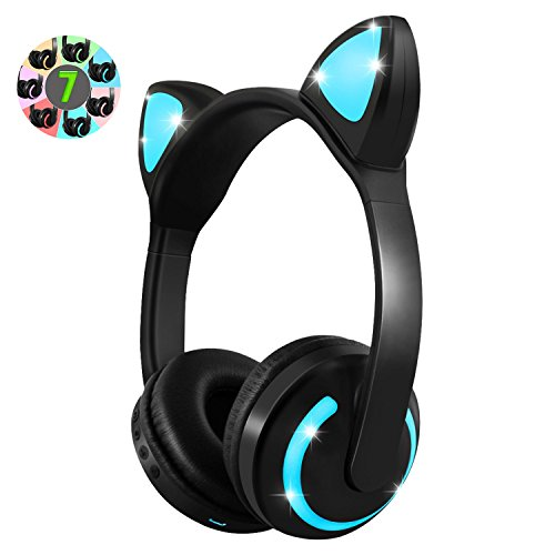 ネコ耳ヘッドフォン 子供用 Bluetooth4.2 LED...