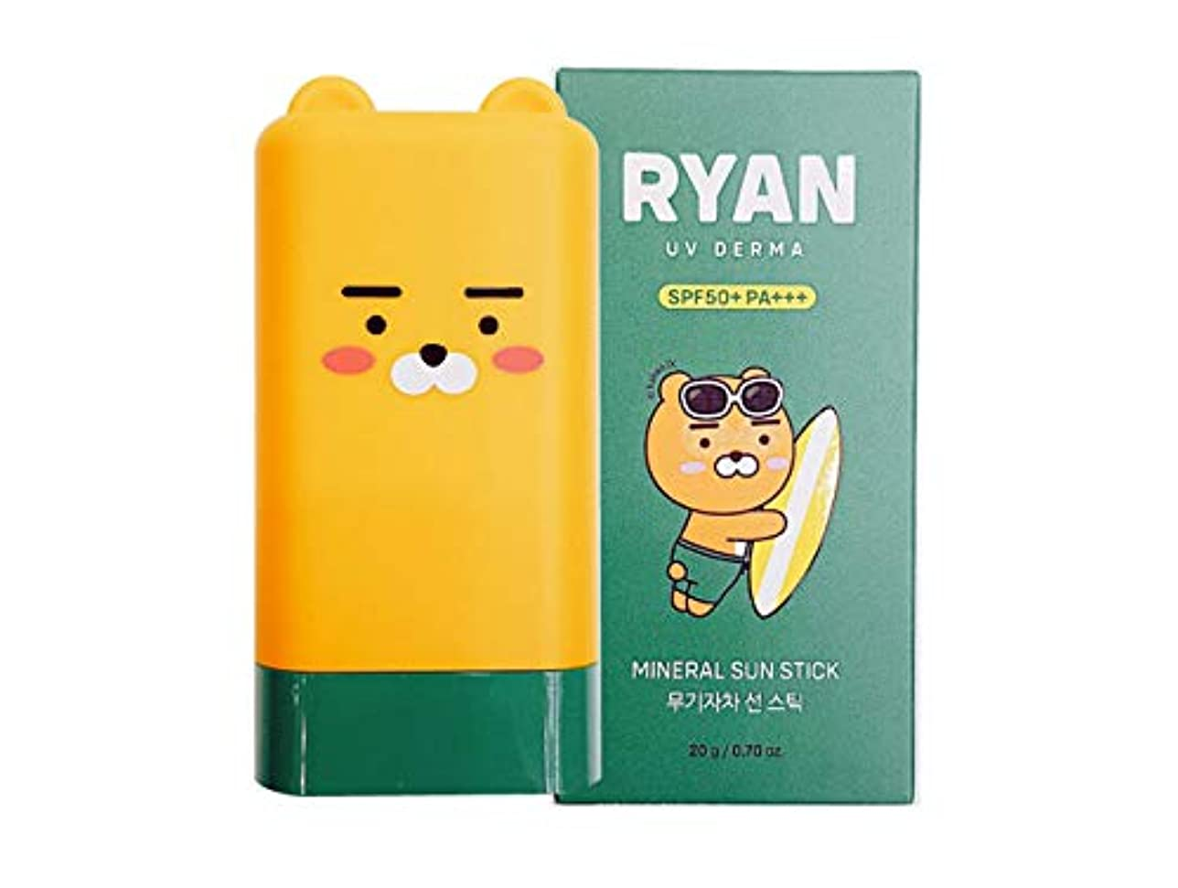 忘れっぽい一時的忌避剤[ザ?フェイスショップ] THE FACE SHOP [カカオフレンズ ライオン UVデルマ ミネラル サンスティック 20g] (Kakao Friends RYAN UV Derma Mineral Sun Stick...