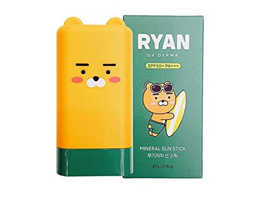 ハッピー楽観被害者[ザ?フェイスショップ] THE FACE SHOP [カカオフレンズ ライオン UVデルマ ミネラル サンスティック 20g] (Kakao Friends RYAN UV Derma Mineral Sun Stick...
