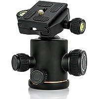 自由雲台 ボールヘッド クイックシュー付き 耐荷重量8KG以上 360度回転可能 アルミ製 全景撮影 ビデオ カメラ 三脚 一眼レフ DSLR 用 キヤノン/ニコン/オリンパス等に対応