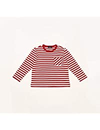 コムサイズムキッズ(COMME CA ISM) 【洗える】 ボーダー 長袖Tシャツ