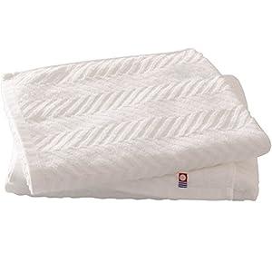 アイリスプラザ 今治タオル バスタオル 2枚セット ホワイト 60×120cm 日本製 綿100% IMB-T8