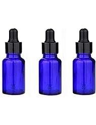 homewineasy スポイト遮光瓶 アロマオイル ガラス製 精油 小分け用 スポイト キャップ 遮光瓶 保存 詰替え オイル用 20ml 3本セット