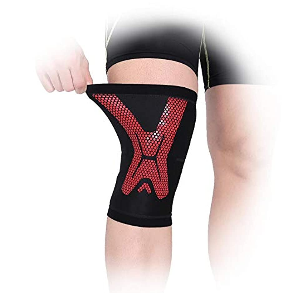 頬骨ベスト青膝サポーターブレースコンプレッションスリーブ - 関節痛、関節炎、靭帯損傷、半月板裂傷、腱炎、ランニング、スクワット、スポーツ