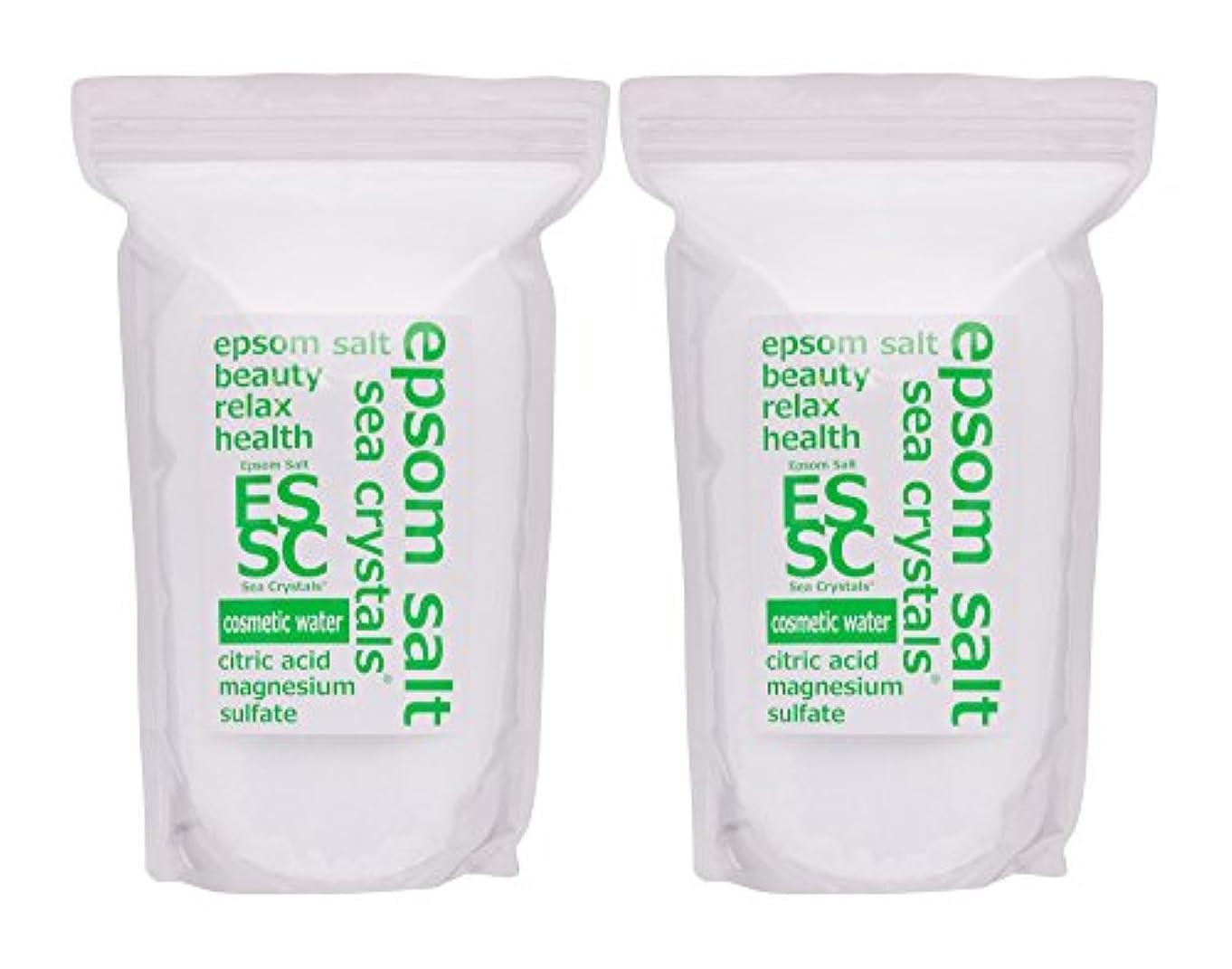 一貫した日帰り旅行にサスティーンエプソムソルト コスメティックウォーター 4,4kg(2.2kgX2) 入浴剤(浴用化粧品)クエン酸配合 シークリスタルス 計量スプーン付