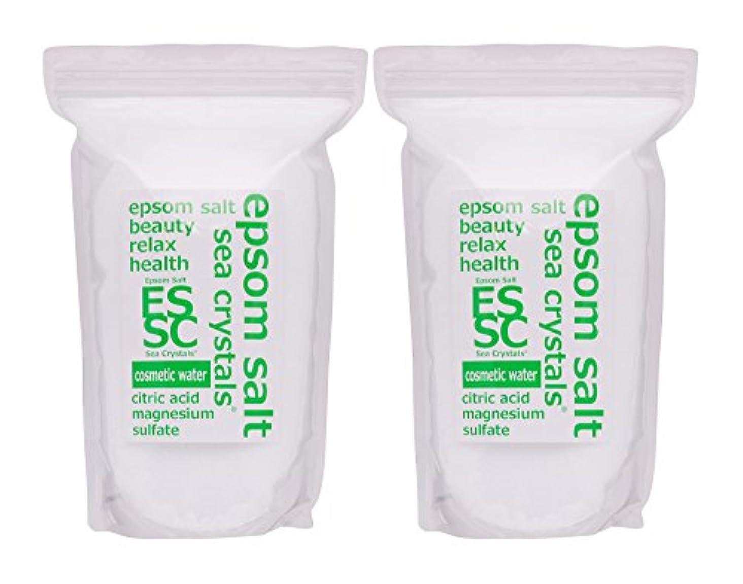 認証形式毎回エプソムソルト コスメティックウォーター 4,4kg(2.2kgX2) 入浴剤(浴用化粧品)クエン酸配合 シークリスタルス 計量スプーン付