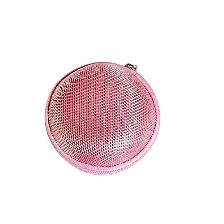 敗北絶対に暫定Chinashow エッセンシャル オイル キャリング ケース - エッセンシャル オイル スモール ストレージ オーガナイザー フォーム インサート と 7本 ボトル付き(2ml)ピンク