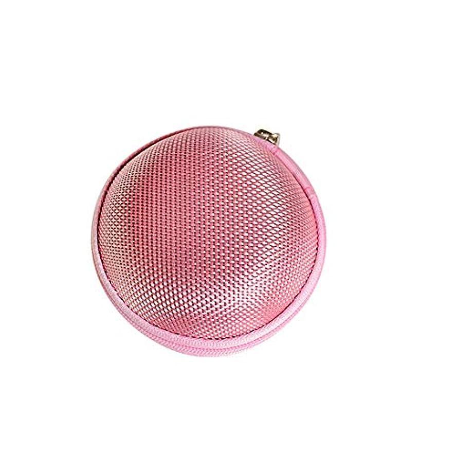 支配する領事館降ろすChinashow エッセンシャル オイル キャリング ケース - エッセンシャル オイル スモール ストレージ オーガナイザー フォーム インサート と 7本 ボトル付き(2ml)ピンク