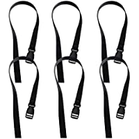 BESPORTBLE 10pcs Tie Down Straps Ratchet Straps Heavy Duty Fastener Straps Packing Straps with Press Buckle Black