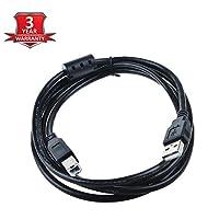 SLLEA 6ft USB 2.0のデータ同期ケーブルリードコードFD FantomドライブGreenDrive gd4000eu gd3000eu gd500eu 4tb 3tb外部ハードディスクドライブHDD 500GB HDオスA toオスBコードリードブラック