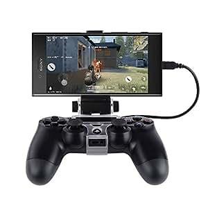BT-BASE PS4コントローラー用スマホホルダー 荒野行動 Android対応 PS4コントローラーをスマホに固定