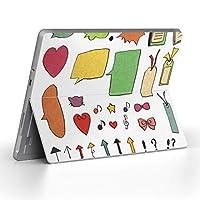 Surface go 専用スキンシール サーフェス go ノートブック ノートパソコン カバー ケース フィルム ステッカー アクセサリー 保護 カラフル フラワー 星 ハート 009366