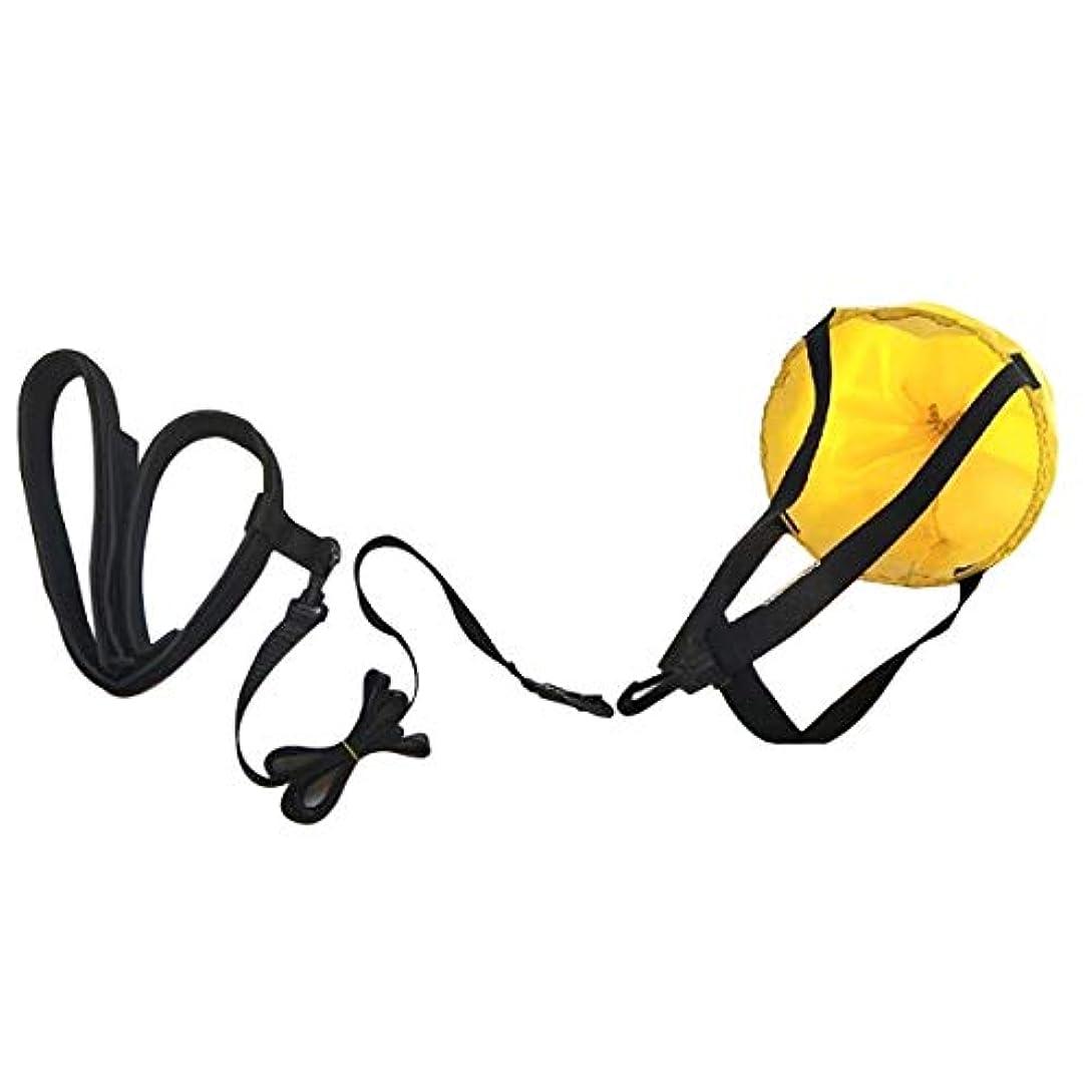 かろうじて破滅規範LIOOBO 水生抵抗ベルト水泳用抵抗ベルトセット水泳用トレーニングバンド、引きずりパラシュート付き1つのウエストベルト、そして連結ウェビング1つのメッシュバッグ(黄色)
