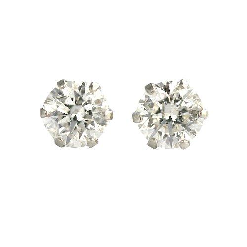 【 DIAMOND WORLD 】レディース ジュエリー PT900 ダイヤモンド ピアス 0.50ct 6本爪タイプ ダイヤモンド FGカラー SIクラス Goodカット ダイヤ使用
