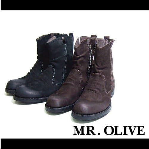 【MROLIVE(ミスターオリーブ)】ショートペコスブーツ 8 1/2(M)サイズ ブラウン