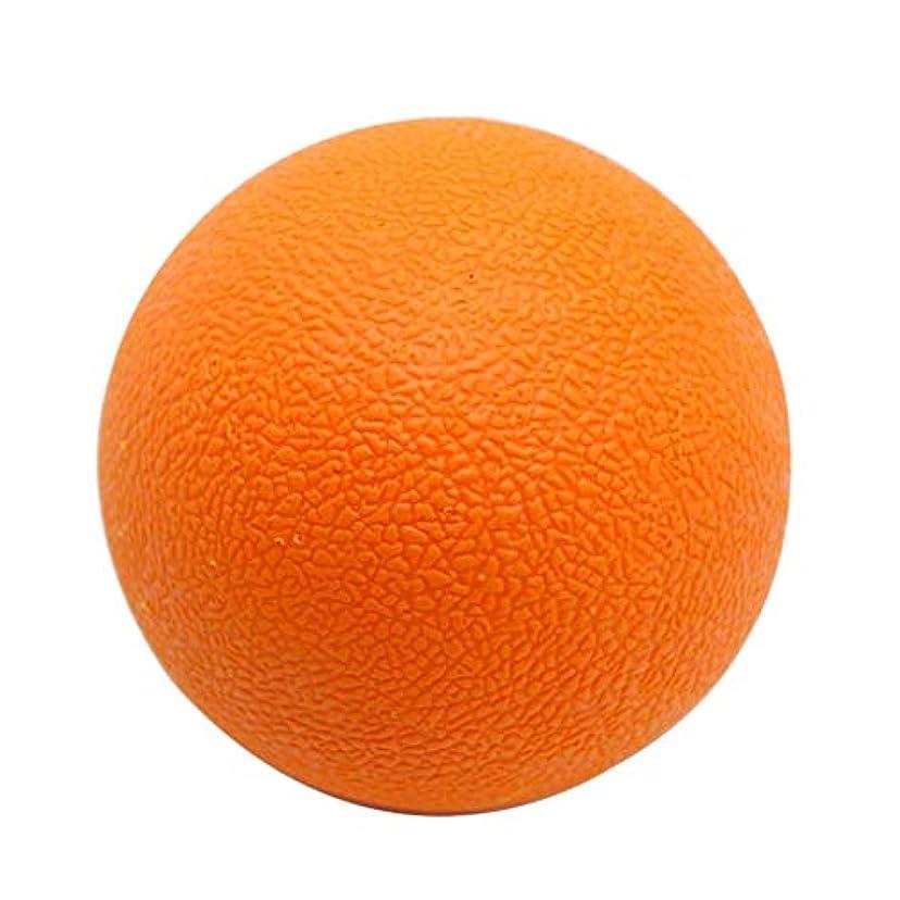 見つける円周トレースマッサージボール TPE トリガーポイント 筋膜リリース ツボ押しグッズ 足、腕、首、背中 オレンジ