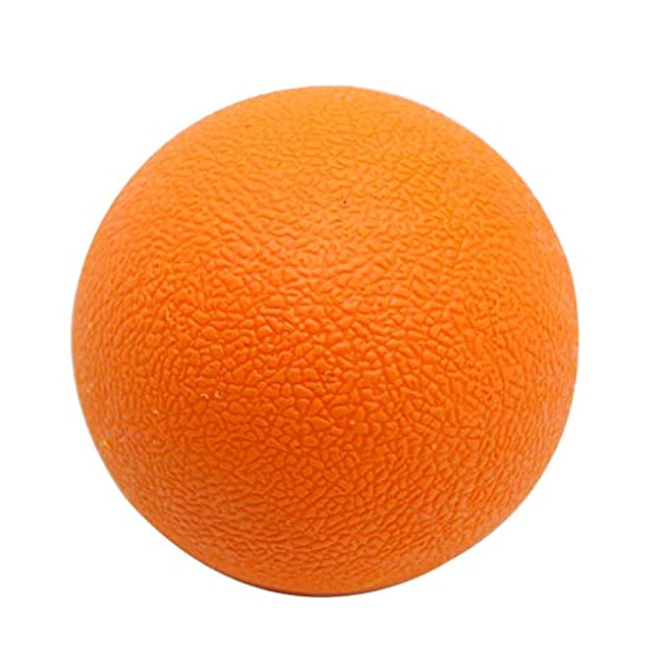 悪の乗算アルファベット順マッサージボール TPE トリガーポイント 筋膜リリース ツボ押しグッズ 足、腕、首、背中 オレンジ