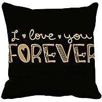 あなたは永遠に金の引用のスタイルが好きです 枕を挿入して正方形の家のソファのクッション?カバーを放り投げてください 50cm x 50cm