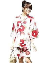 AiAi(アイアイ) ペア 甚平 上下セット レディース 女の子 綿100% 夏祭り 花火大会 M-L/LL/140/150/160
