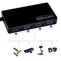 FidgetGear 4-Port USB 3.0 Hub 5Gbps Portable Compact for PC Mac Laptop Notebook Desktop NEW