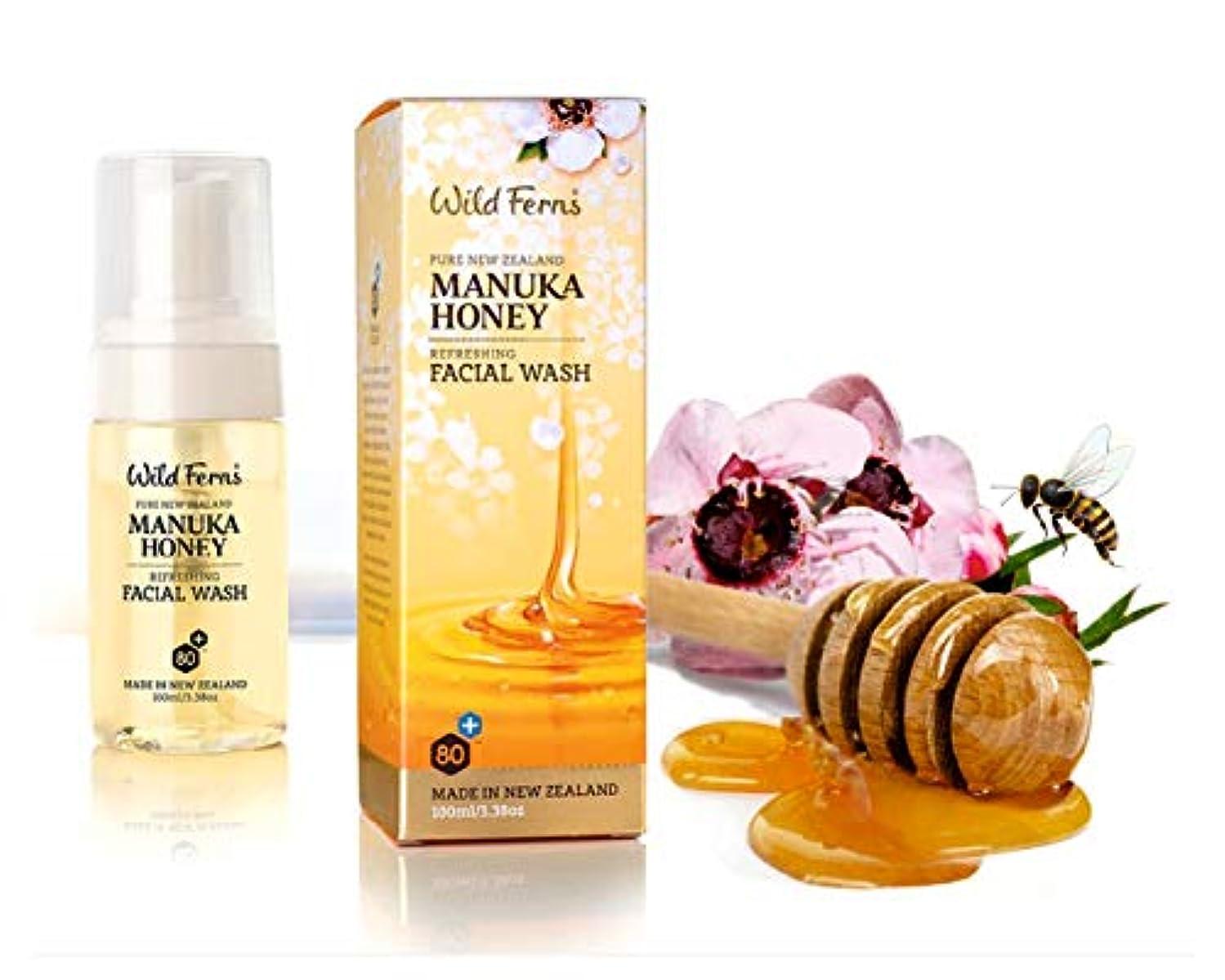 究極の予算みWild Ferns Manuka Honey Refreshing Foaming Facial Wash 100ml