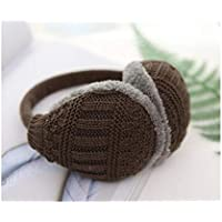 MINRUIGONGMAO-O Ear Protectors, Knitted Thread Plush Earmuffs, Male And Female Portable Earmuffs, Foldable Winter Outdoor Products, Multiple Colors Ear Protectors (Color : Brown)