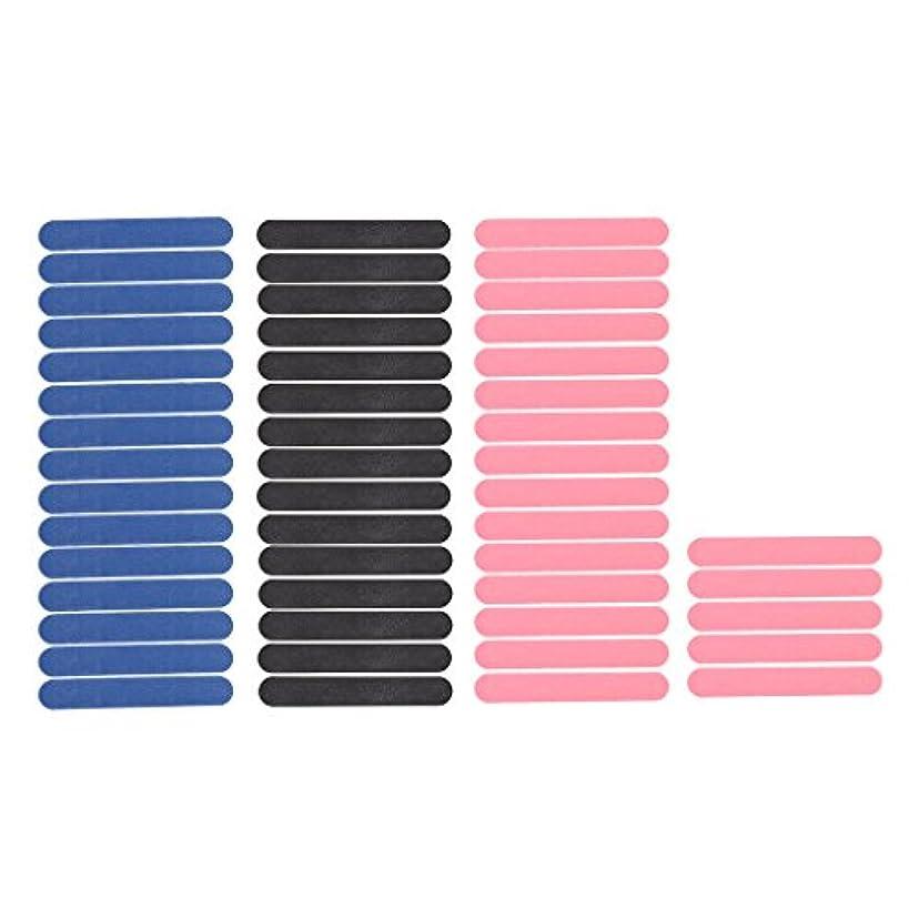 ウサギランデブーチャンバーToygogo ネイルアートサンディングファイルバッファー用サロンマニキュアUVゲルポリッシャーツールパック50ブラック/ピンク/ブルー